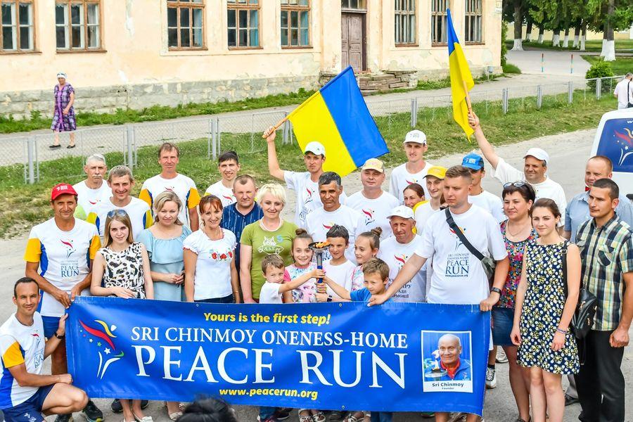 Міжнародна факельна естафета «Всесвітній біг миру заради гармонії» пролягла через Трибухівську громаду